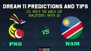PNG vs NAM Dream11 Team Papua New Guinea vs Namibia, Match 10 Group A, ICC Men's T20 World Cup Qualifiers – Cricket Prediction Tips For Today's Match PNG vs NAM at Dubai
